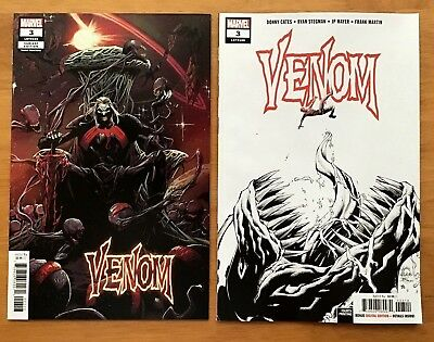 Venom 3 2018 3rd & 4th Printing 1st APP of Knull Ryan Stegman Covers  NM+