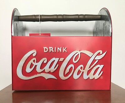Collectible Drink Coca-Cola Tin Utensil Caddy