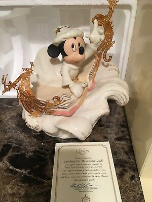 "Mickey Mouse ""Searching For The Sorcerer's Spell"" Lenox  Disney RARE 1468/3500"