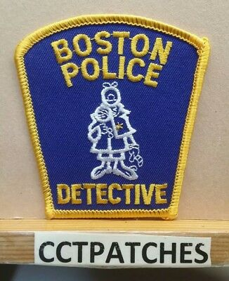 Boston, Massachusetts Police Detective (Small) Shoulder Patch Ma