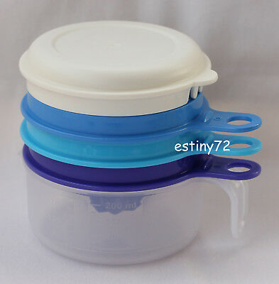 Tupperware All In One Ez Prep Mate Set (Juicer, Grater, Egg Separator) Blue New