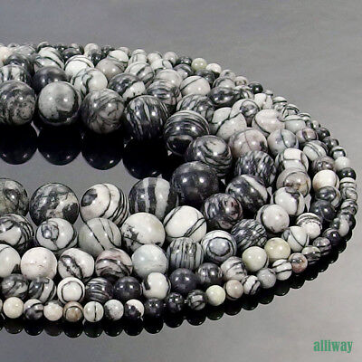 Natural Spider Web Jasper Gemstone Round Beads 15.5'' 4mm 6mm 8mm 10mm 12mm DIY