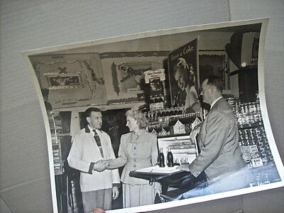 """1940's - 1950's  PHOTOGRAPH COCA-COLA STORE ADVERTISING DISPLAY - """"HAVE A COKE"""""""