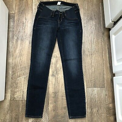 Old Navy Maternity Dark Wash Skinny Jeans Elastic Side Panel Size 2