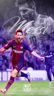 "304 Lionel Messi - Barcelona Football Soccer Top Player 14""x24"" Poster"