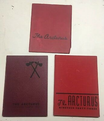 VTG Lot of 3 Yearbooks Netcong High School NJ New Jersey 1942 1943 1944 Arcturus