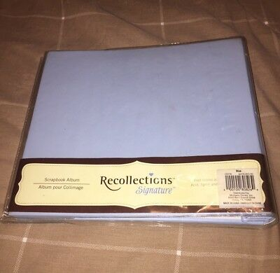 New Recollections Signature Scrapbook Album 10 Pages 12 X 12 Blue