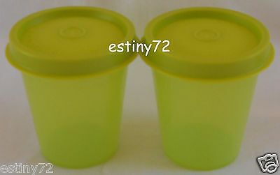 Tupperware Minis / Midgets Set (2) Salsa Verde Green New