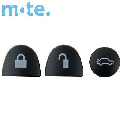 Holden Commodore 3 Black Buttons Set Car Remote Key VS VT VX VY VZ WH WK WL