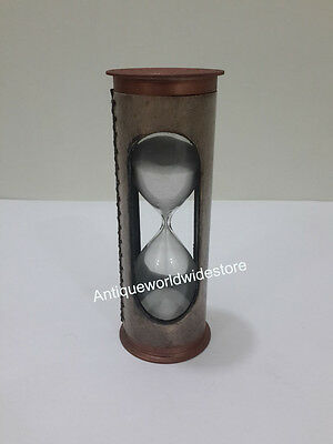 Nautical Brass Leather Sand Timer Beautiful Home Decor