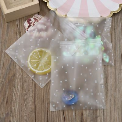 Plastic Bag 100pcs/set White Dots Gift Transparent Frosted Birthday Packaging