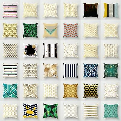 Honeycomb Geometric Polyester Sofa Decor Pillow Case Cushion Cover Home Decor