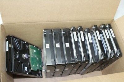 "Lot of 10 SATA 3.5"" Desktop Hard Drives-HDD-Various Sizes-Assorted Brands"