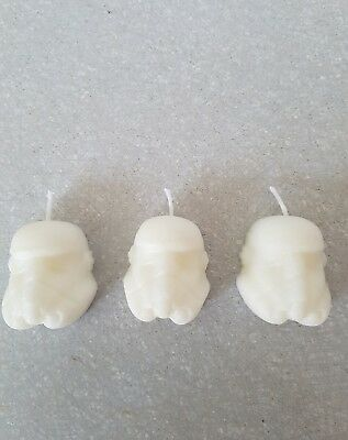 Starwars storm trooper birthday candle handemade x 6
