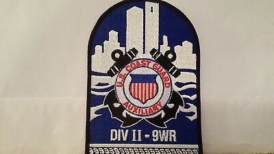 United States Coast Guard DIV II-9WR  Color Patch 5 1/2 X 4  inches