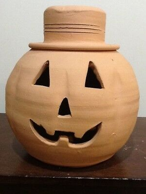 The Punk Red Clay Halloween Jack O Lantern Craven Pottery