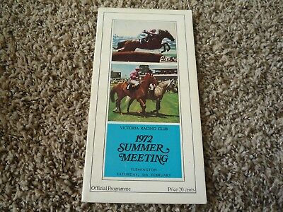 5th Feb 1972 Summer Meeting Flemington VRC Horse Racing Programme - Race Book