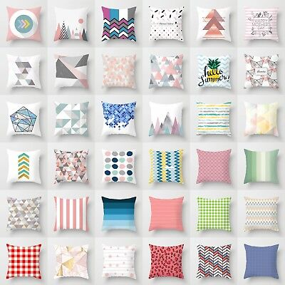 "18"" Polyester Pattern Geometric Pillow Case Sofa Waist Cushion Cover Home Decor"