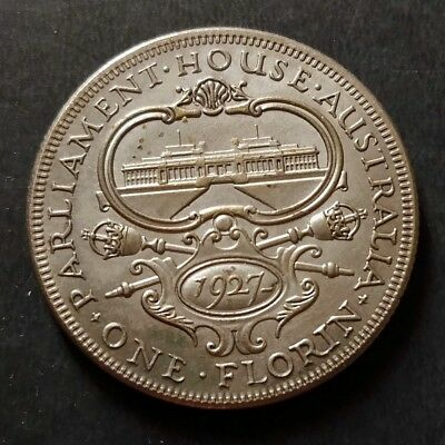 1927 Australia One Florin Parliament King George Copper nickle metal craft coin