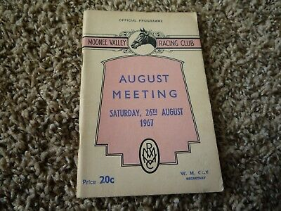 1967 Moonee Valley.. August Meeting Horse Racing Programme Race Book