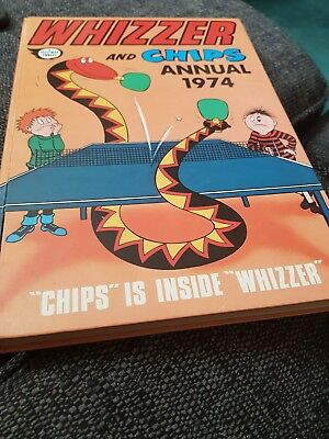 The Whizzer And Chips Annual 1974 X EXCELLENT CONDITION FOR ITS AGE X 1233 X