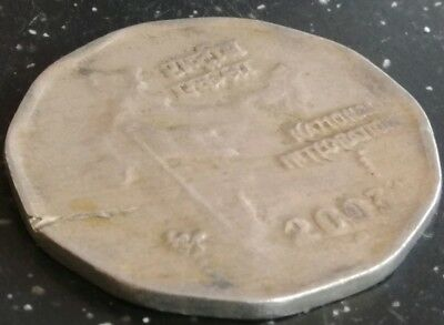 INDIA 2003 rupees 2 copper nickel scarce double die error coin