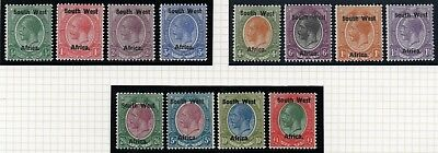 KGV SG1-12 English single stamps set of (12) 1923  LMM South West Africa A1259