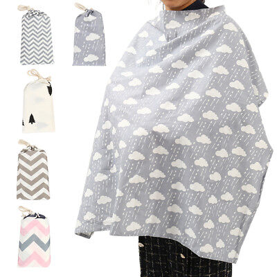 Baby Mum Breastfeeding Cover Nursing Poncho Up Blanket Shawl with Bundle Pouch