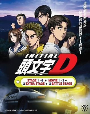 INITIAL D Stage 1-6 + Movie 1-3 + 2 Extra Stage + 2 Battle DVD English Subtitle