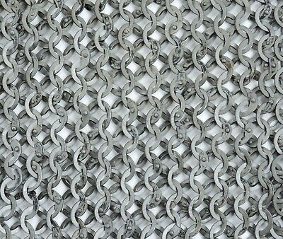 Chain Mail Sheet -8 mm 18 Gauge Flat Ring Dome Riveted With Solid Ring