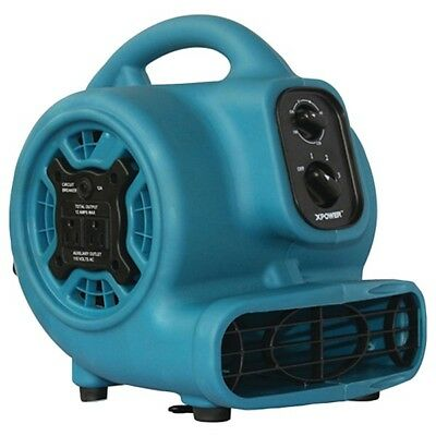 XPOWER P-230AT 800cfm 3-Speed Mini Air Mover/Floor Dryer/Utility Blower Fan w...
