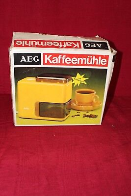 Retro alte orange Kaffeemühle AEG KMD 101