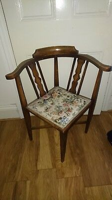 Stunning Inlaid Mahogany Rosewood Antique Corner Chair. Collect DY8.