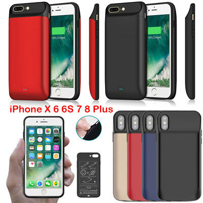 2400-7200mAh for iPhone X 6 7 8 Plus Battery Charger Case Backup Power Bank Pack