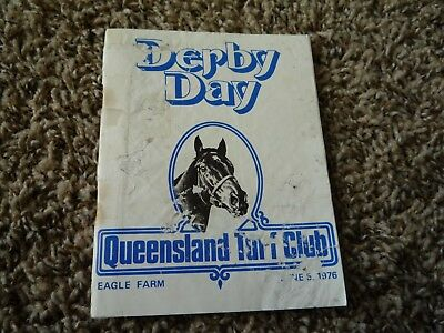 5th June 1976 Derby Day Queensland Horse Racing Programme Race Book