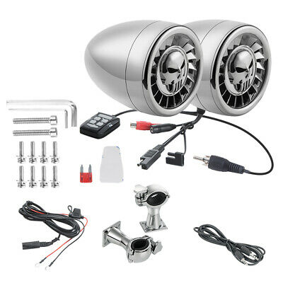 Audio 600W Bluetooth Speakers Amplifier Handlebar System for Harley #2