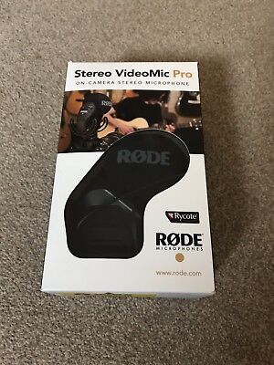 Rode Stereo VideoMic Pro DSLR / Camcorder Camera Mic + Rycote Lyre Suspension