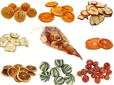 Dried Christmas Fruit Apples Oranges Lemons Choice Of 10 - Christmas Crafts