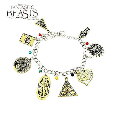 Fantastic Beasts (8 Themed Charms) Assorted Metal Charm Bracelet