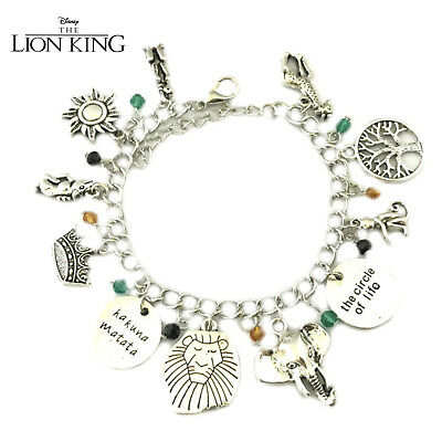 Disney's Lion King (11 Themed Charms) Assorted Metal Charm Bracelet