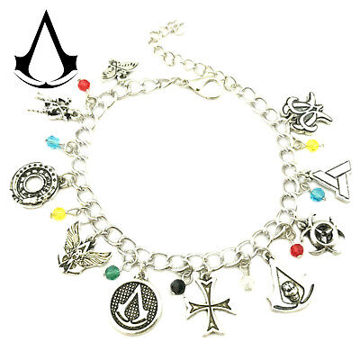 Assassin's Creed (10 Themed Charms) Assorted Metal Charm Bracelet