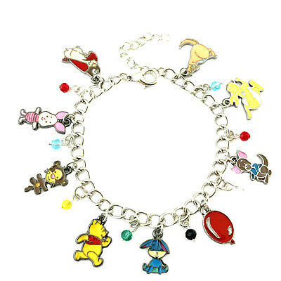 Disney's Winnie-the-Pooh (9 Themed Charms) Assorted Metal Charm Bracelet