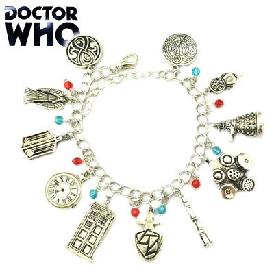 Doctor Who (11 Themed Charms) Assorted Metal Charm Bracelet