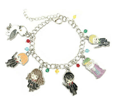 Harry Potter (6 Themed Charms) Assorted Metal Charm Bracelet