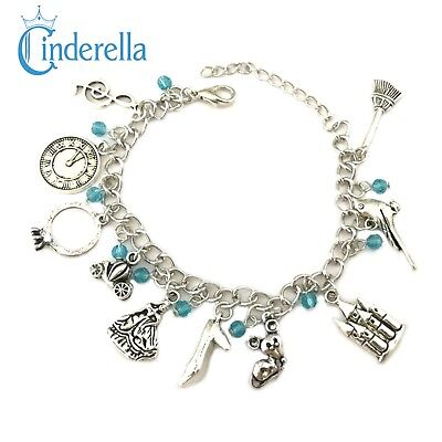 Disney's Cinderella (10 Themed Charms) Assorted Metal Charm BRACELET