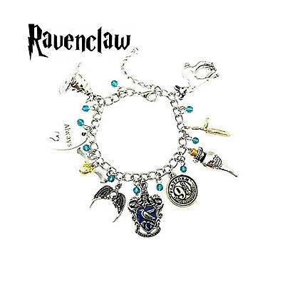 Harry Potter Ravenclaw (9 Themed Charms) Assorted Metal Charm Bracelet