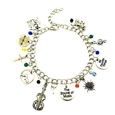 Sound of Music Movie Musical (10 Themed Charms) Assorted Metal Charm Bracelet