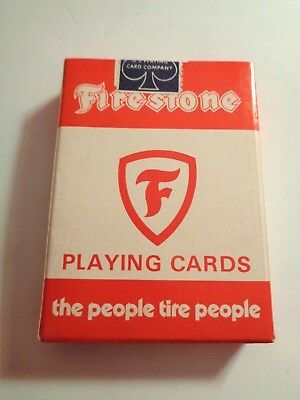 Vintage FIRESTONE TIRES Playing Cards Sealed Automotive Racing U.S. Playing Card