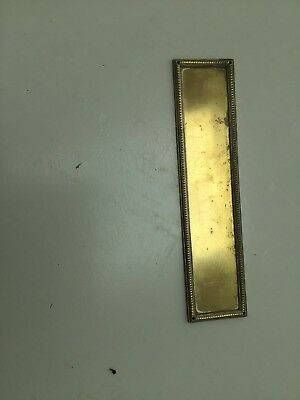 Brass Door Finger Plate Vintage