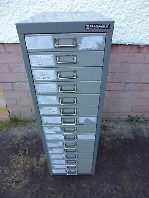 A4 Bisley 15 drawer metal cupboard